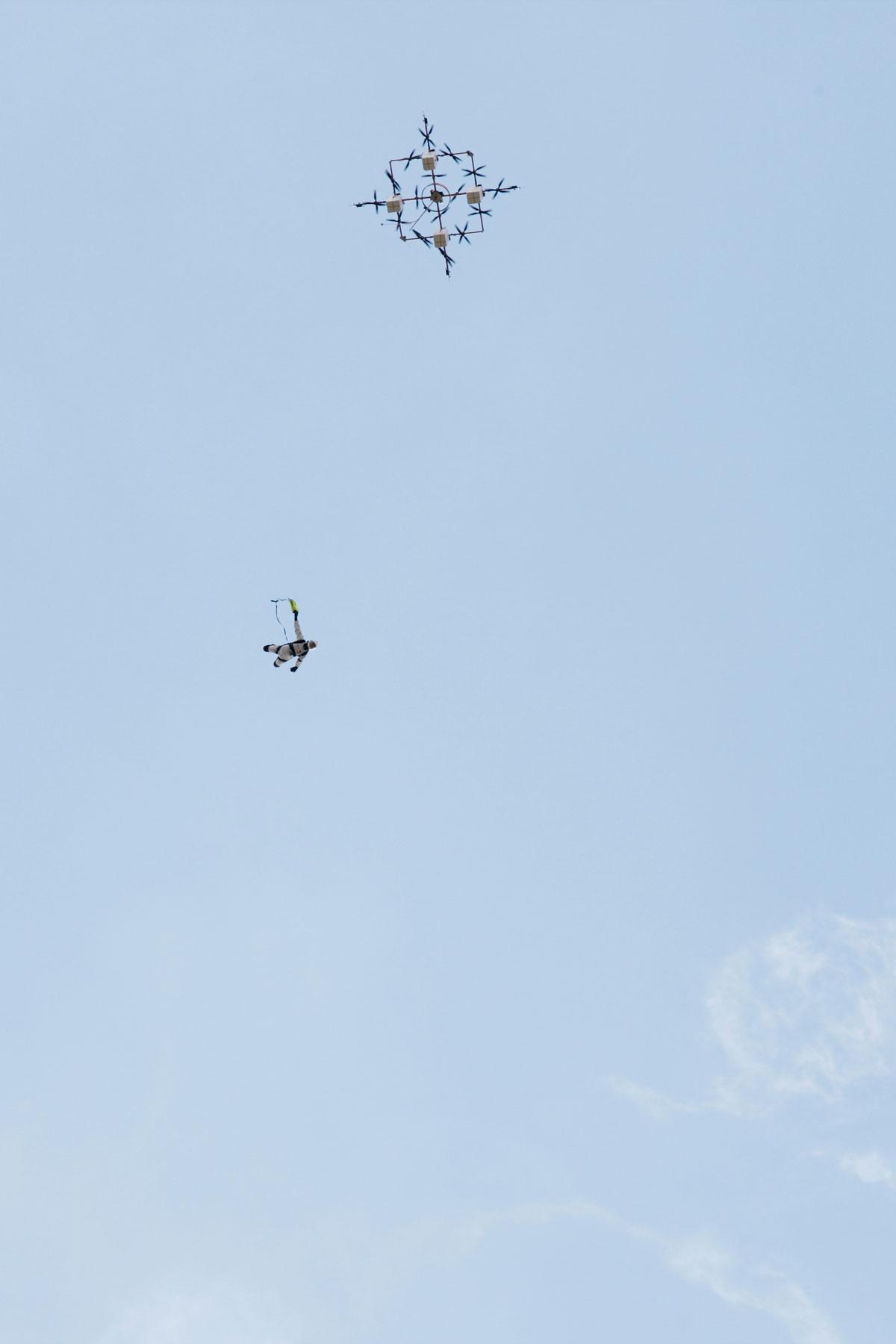 drone jump aerones skydive